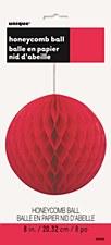 "8""Ruby Red Honeycomb Ball"