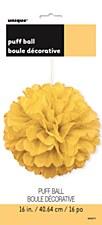 16in Yellow Fuff Ball