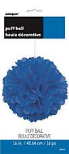 16in Royal Blue Puff Ball