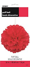 16in Rube Red Puff Ball