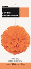 16in Orange Puff Ball