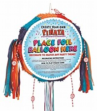 Primary Color Piñata - Blank Drum Pull Pop-Out