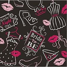 Bridal Bash Beverage Napkins, 16ct