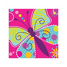 Butterfly Sparkle Beverage Napkins, 16ct