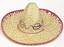 Adult Sombrero with Checker Trim