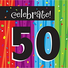 "Milestone Celebrations ""50"" Lunch Napkins, 16ct"