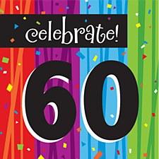 "Milestone Celebrations ""60"" Lunch Napkins, 16ct"