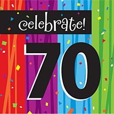 "Milestone Celebrations ""70"" Lunch Napkins, 16ct"