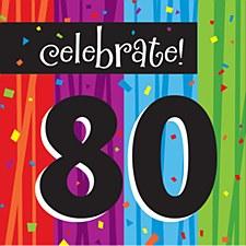 "Milestone Celebrations ""80"" Lunch Napkins, 16ct"
