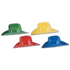 Packaged Miniature Plastic Cowboy Hats, 4ct