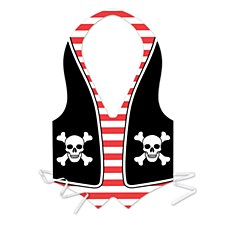 Package Plastic Pirate Vest