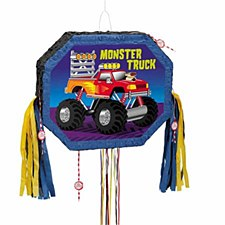 Monster Truck Pull Pop-Out Piñata