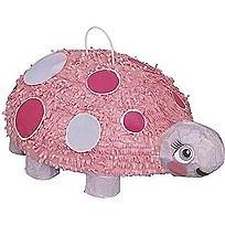 1st Birthday Pink Ladybug 3D Pinata