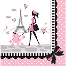 Party in Paris Lunch Napkins, 18ct