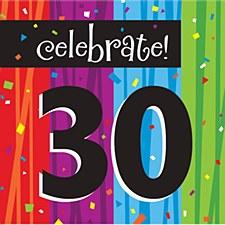 "Milestone Celebrations ""30"" Lunch Napkins, 16ct"