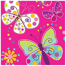 Butterfly Sparkle Lunch Napkins, 16ct