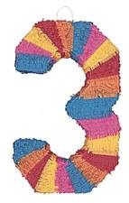 Number 3 Pinata, Multicolor