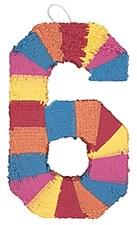 Number 6 Pinata, Multicolor
