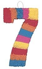 Number 7 Pinata, Multicolor