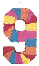 Number 9 Pinata, Multicolor