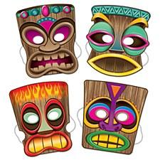 Tiki Masks, 4ct