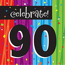 "Milestone Celebrations ""90"" Lunch Napkins, 16ct"