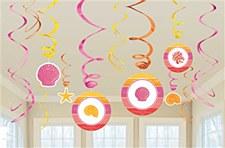 Summer Shells Value Pack Foil Swirl Decorations - 12ct