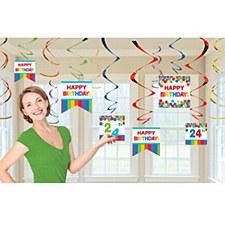 Rainbow Customizable Value Pack Foil Swirl Decorations - 12ct