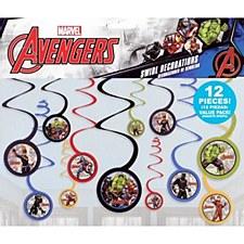 Avengers Swirl Decorations