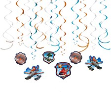 Planes Swirl Decorations