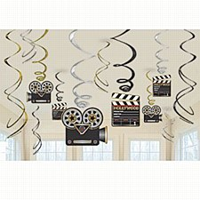 Lights! Camera! Action! Value Pack Foil Swirl Decorations - 12ct