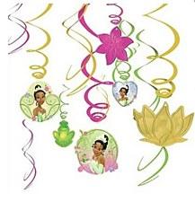 Disney Princess Tiana Swirl Decorations