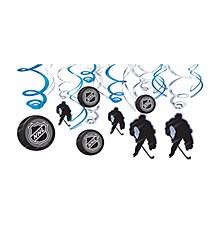 NHL Swirl Decorations 12ct