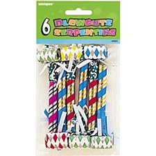 Party Blowouts Assorted Colors 6ct