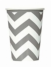 Silver Chevron Cups