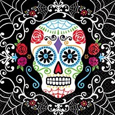 36CT NAPKINS DAY OF THE DEAD