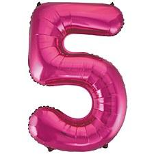 "33"" Number 5 Pink"