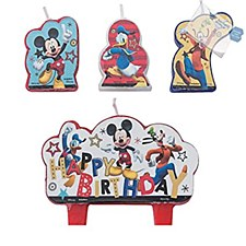 Mickey and the Roadster Racers Birthday Candle Set