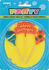 Happy Birthday Balloon Candles