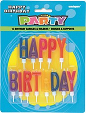 Letter Birthday Candles -12