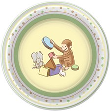 Curious Baby George 8ct plates