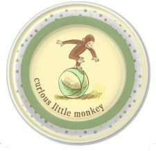 Curious Baby George 8 plates