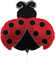 Air Filled Lady Bug Balloon