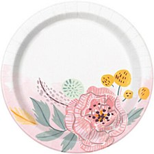 Painted Floral 7in Plate