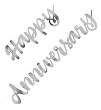 Silver Happy Anniversary Banner