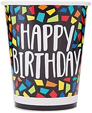 Colorful Mosaic Birthday Cups