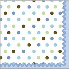 16ct bev. napkins tickled blue