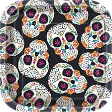 """skull day of the dead 7"""" plate"""