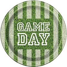 """Game Day Football 7"""" Plate"""