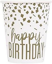 Confetti Gold Birthday Cups